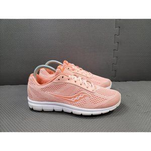 Womens Sz 7.5 Coral Saucony Grid Ideal Running Sho